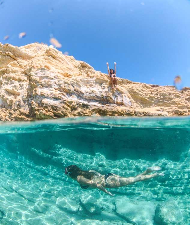 Roteiro ilhas gregas: a cor do mar em Koufonisia é surreal