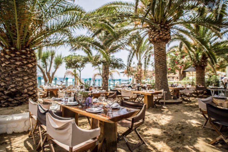 beach clubs em Mykonos