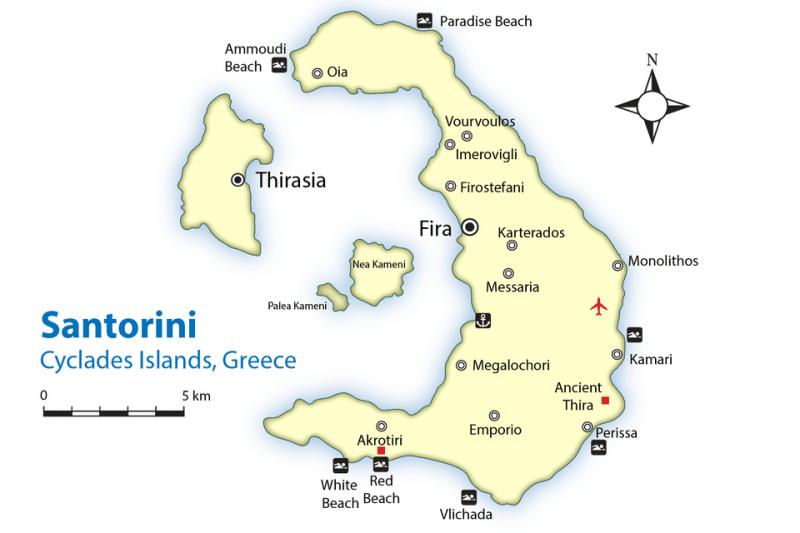 roteiro de 4 dias em Santorini
