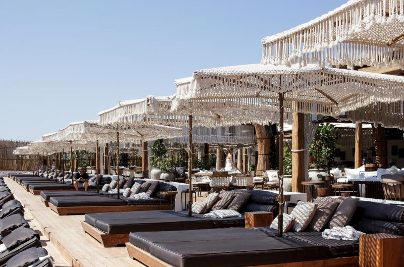 beach club em Mykonos