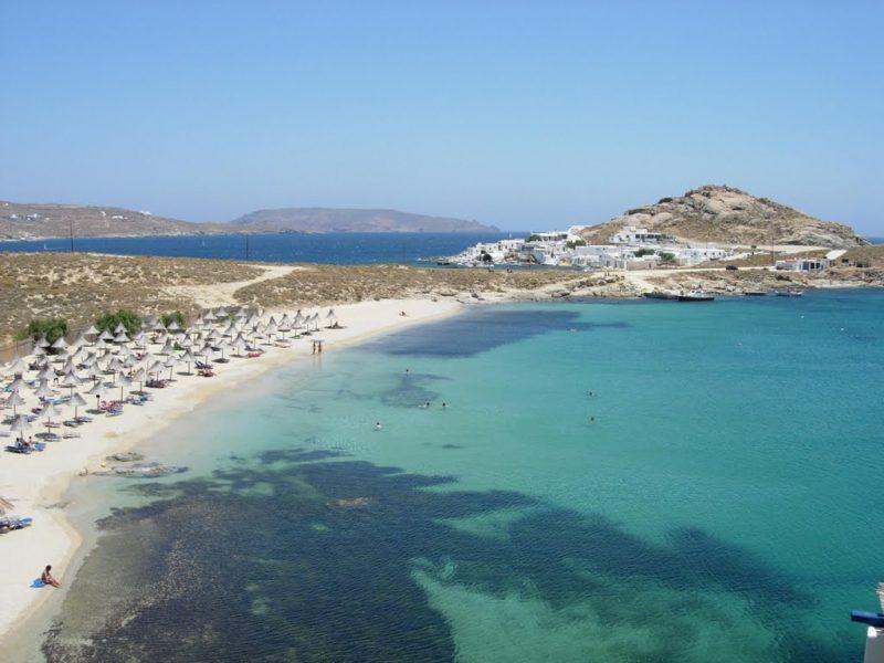 como visitar as praias de mykonos
