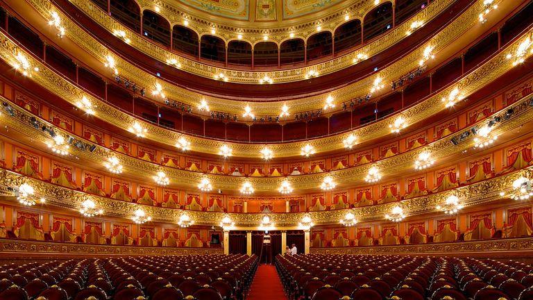 O teatro Colón, em Buenos Aires