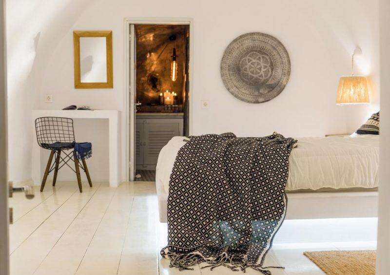 Onde ficar em Santorini: suite do Canva Hotel