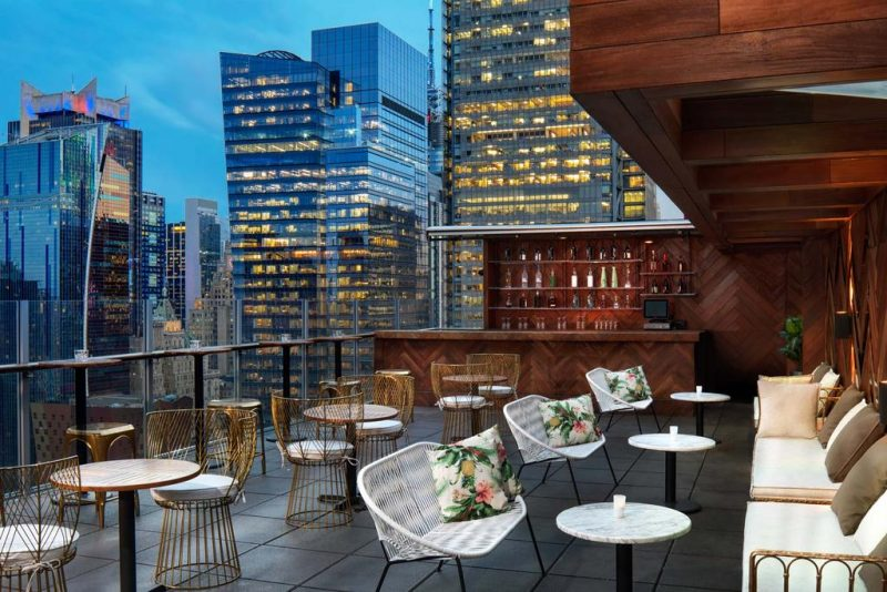O  rooftop do Doubletree by Hilton