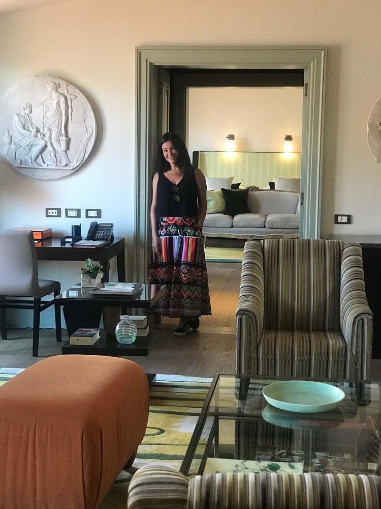 Melhores hoteis de Roma: a suíte mais linda do Hotel de Russie, que se parece com um apartamento