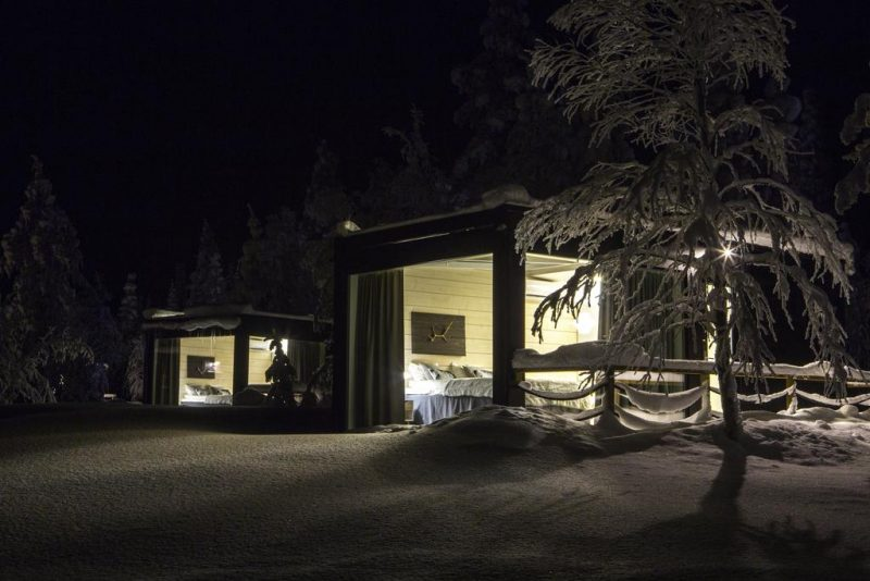 Iisakki: no meio do gelo, mas com aconchego pra ver a aurora boreal