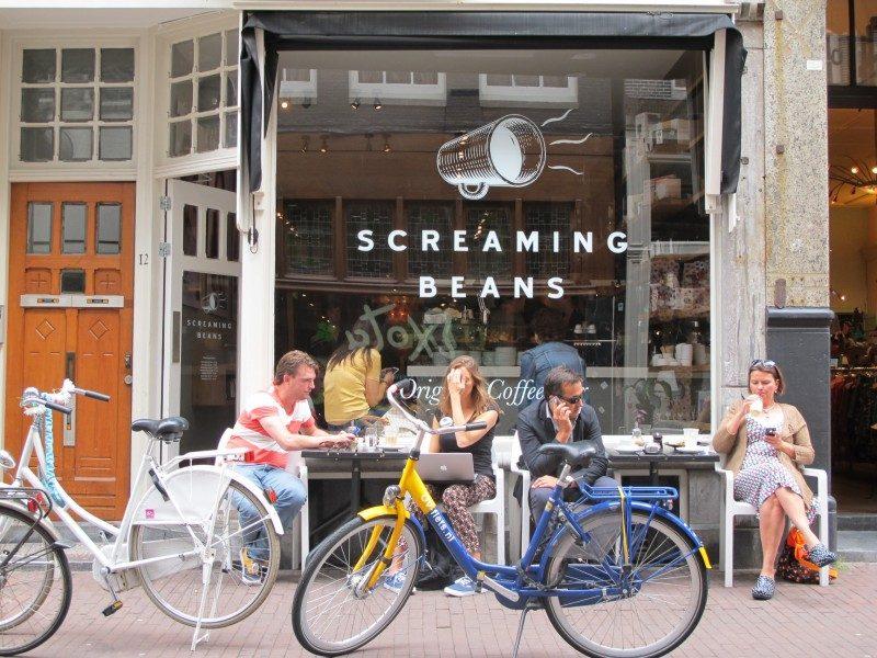 Amsterdã o que fazer: o café Screaming Beans