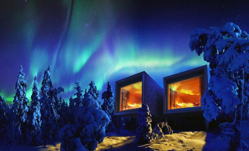 Melhores lugares para se hospedar e ver a Aurora Boreal: o Artctic visto de fora