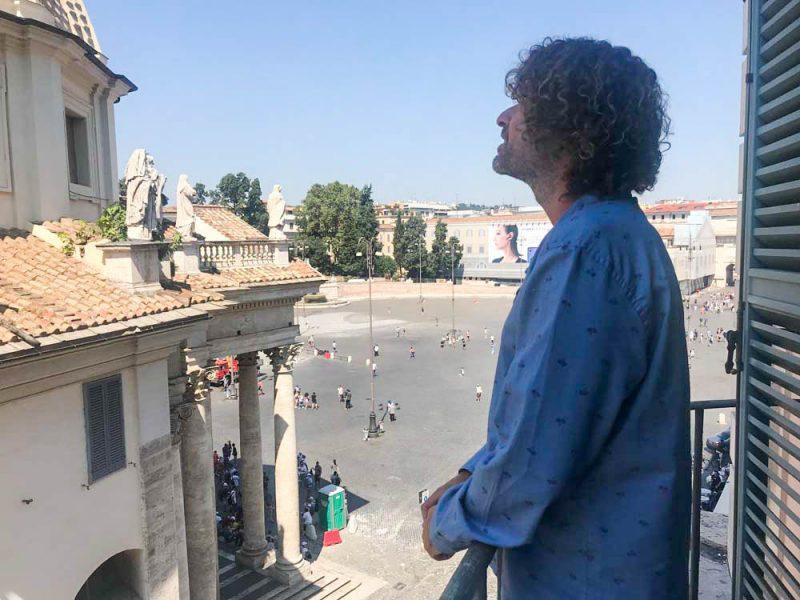 Hotel de Russie: varanda da suíte com vista para a Piazza del Popollo