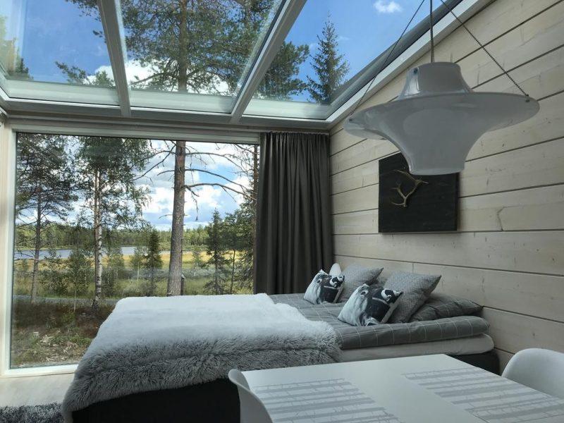 Melhores hoteis pra ver a aurora boreal: o Iisakki Glass