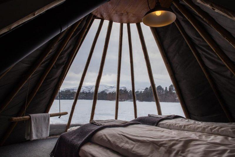 hoteis pra ver aurora boreal na noruega: As tendas de glamping