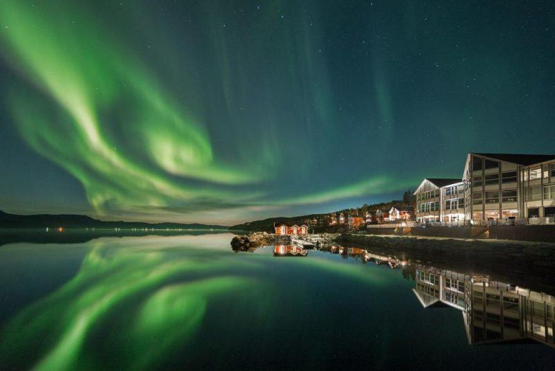 onde ver aurora boral na Noruega : o visual do Malangen