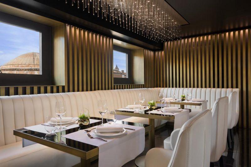 Melhores hoteis de Roma: restaurante com estrela Michelin do Pantheon Hotel