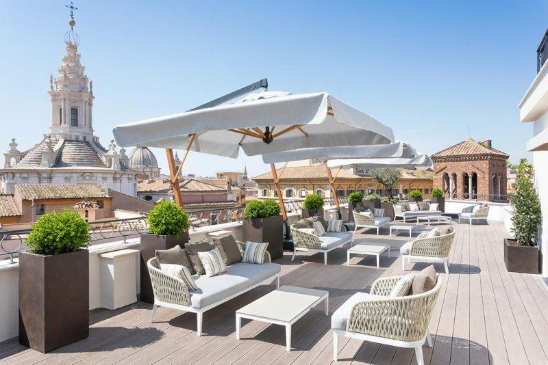 Melhores hoteis de Roma: a vista do Patheon Iconic Hotel