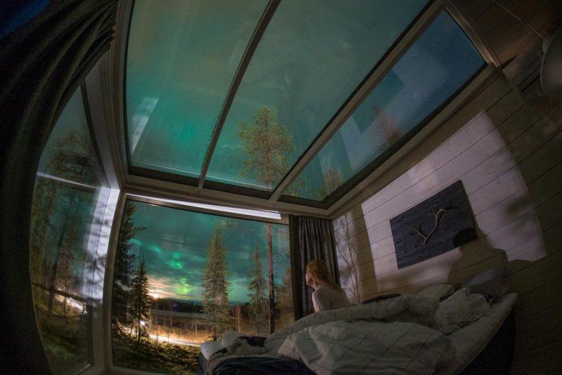 Onde ver a Aurora Boreal: hoteis com teto de vidro