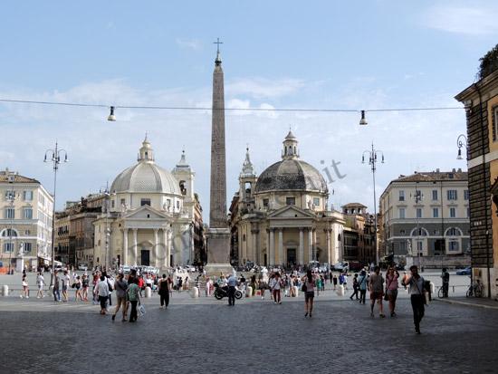 A linda Piazza del Popollo