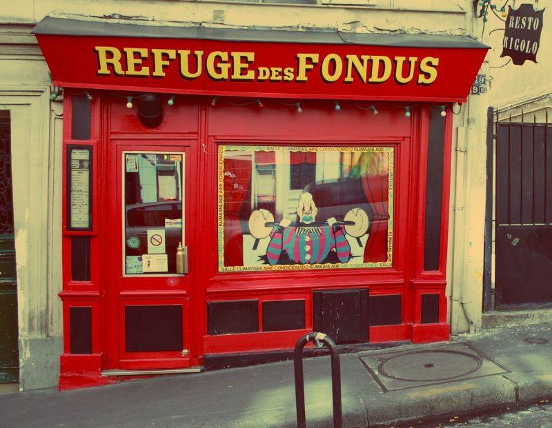 Onde comer em Paris no inverno: refuge des fondus