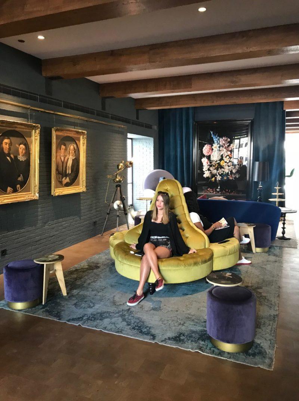 hotéis em Amsterdã :o lobby do Pulitzer