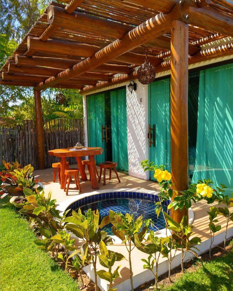 airbnb sao miguel dos milagres: o bangalô para duas pessoas no Patacho. Lindo!