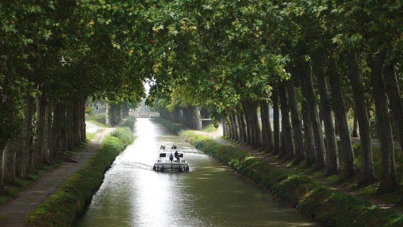 Canal do Midi de barco