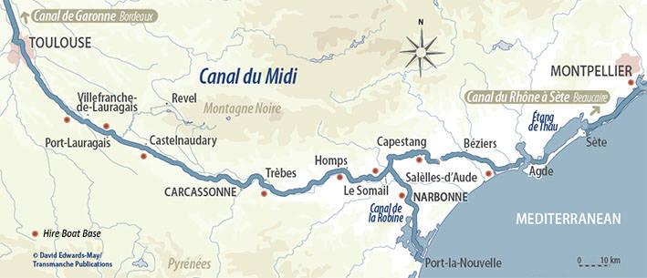 Canal do Midi na frança
