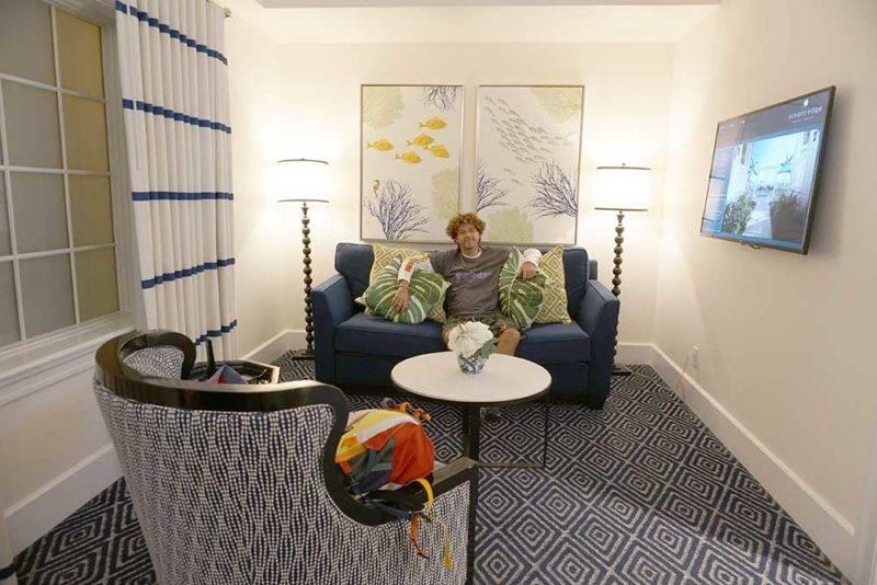 Melhores hoteis em Key West: a sala do nosso quarto no Edge