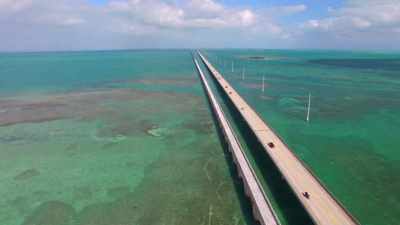 Aluguel de carro Flórida: o caminho pelas Florida Key é lindo.