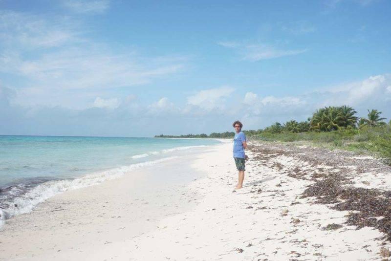 A praia El Cielo, em Cozumel: visual selvagem e protegido