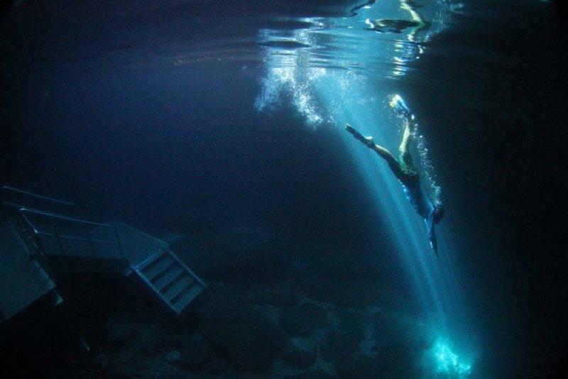 Devils Den, agua super transparente