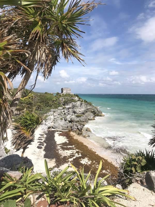 As ruínas de Tulum à beira-mar