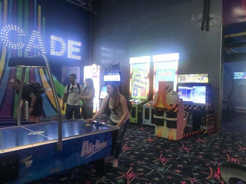 E umas das muitas salas com jogos e diversões do Grand at Moon Palace: hotel é o máximo