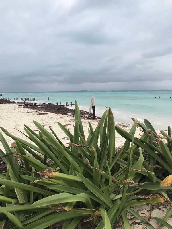 um trecho entre a Playa Norte o o MIA, em Isla Mujeres