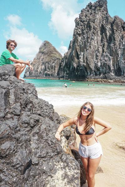 A praia da Cacimba, com os Dois Irmãos. Linda!!