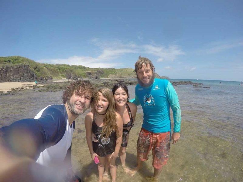 Felipe, ainda no Tamar: hoje ela faz travessias pelo mar e mergulho livro com visitantes