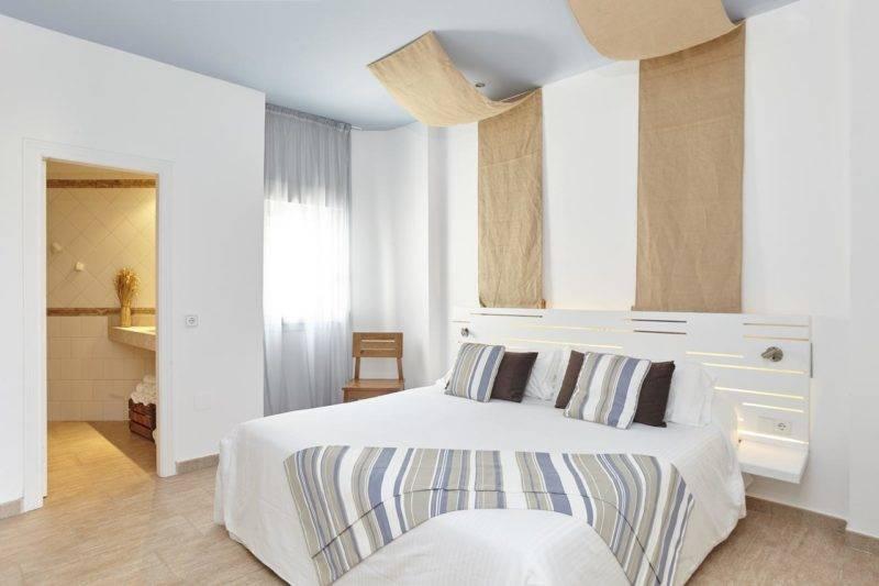 Onde se hospedar em Formentera: os quartos do Castaví também são amplos.