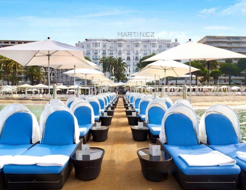 Onde ficar em Cannes: Hotel Martinez com acesso direto a praia.
