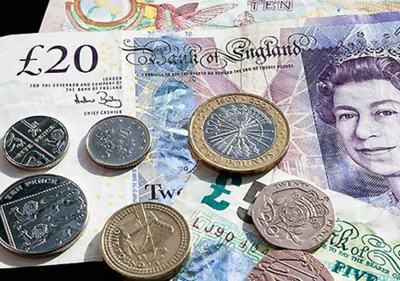 Moeda em Londres: Monarquia inglesa nas notas de libras esterlinas