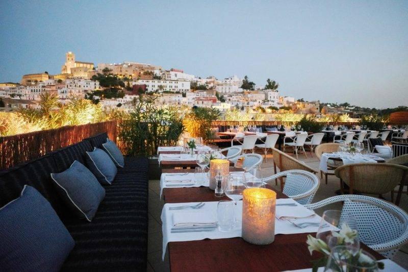 Melhores hotéis em Ibiza: Terraço do Café Montesol.