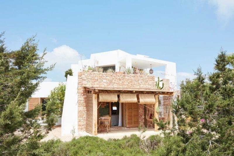 Onde ficar em Formentera: Varanda privativa do Can Tres Formentera.