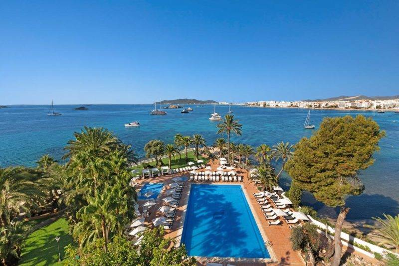Onde ficar em Ibiza: Vista do THB Los Molinos.