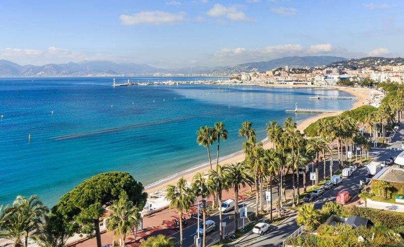 Roteiro sul da França: Vista da riviera de Cannes.
