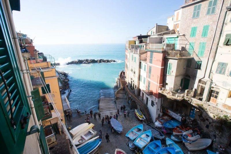 Onde ficar em Cinque Terre: vista do Alla Marina Affittacamere.