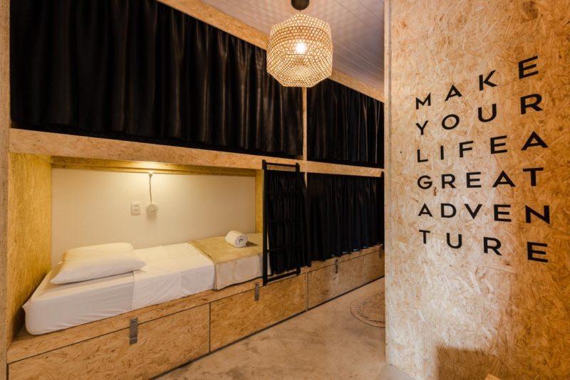 Hotel em Fernando de Noronha: tem também quartos compartilhados.