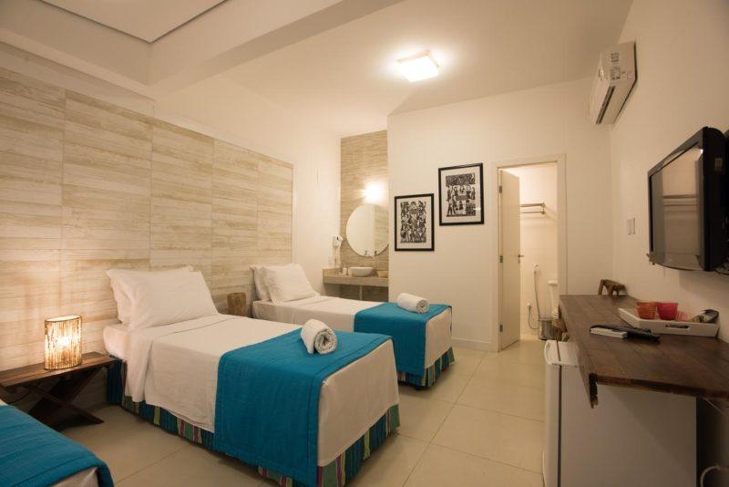 Hotéis Fernando de Noronha: a Pousada da Vila tem quartos amplos para famílias.