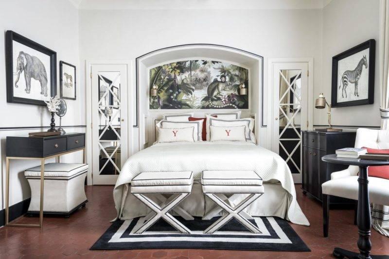 Hotéis em Saint Tropez: o luxuoso quarto do Le Yaca.