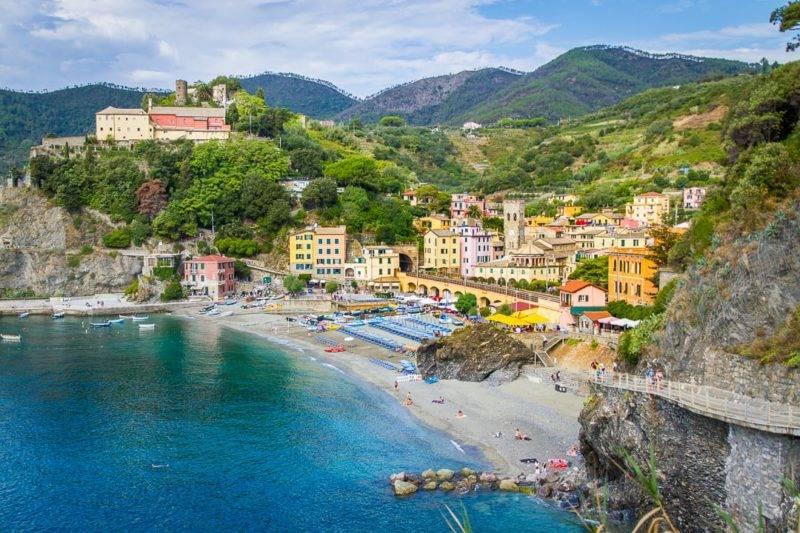 Roteiro Itália: Praia de Monterosso.