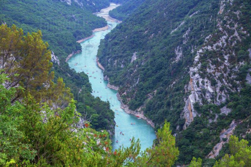 Cidades para visitar a partir de Cannes: O sinuoso rio Verdon.