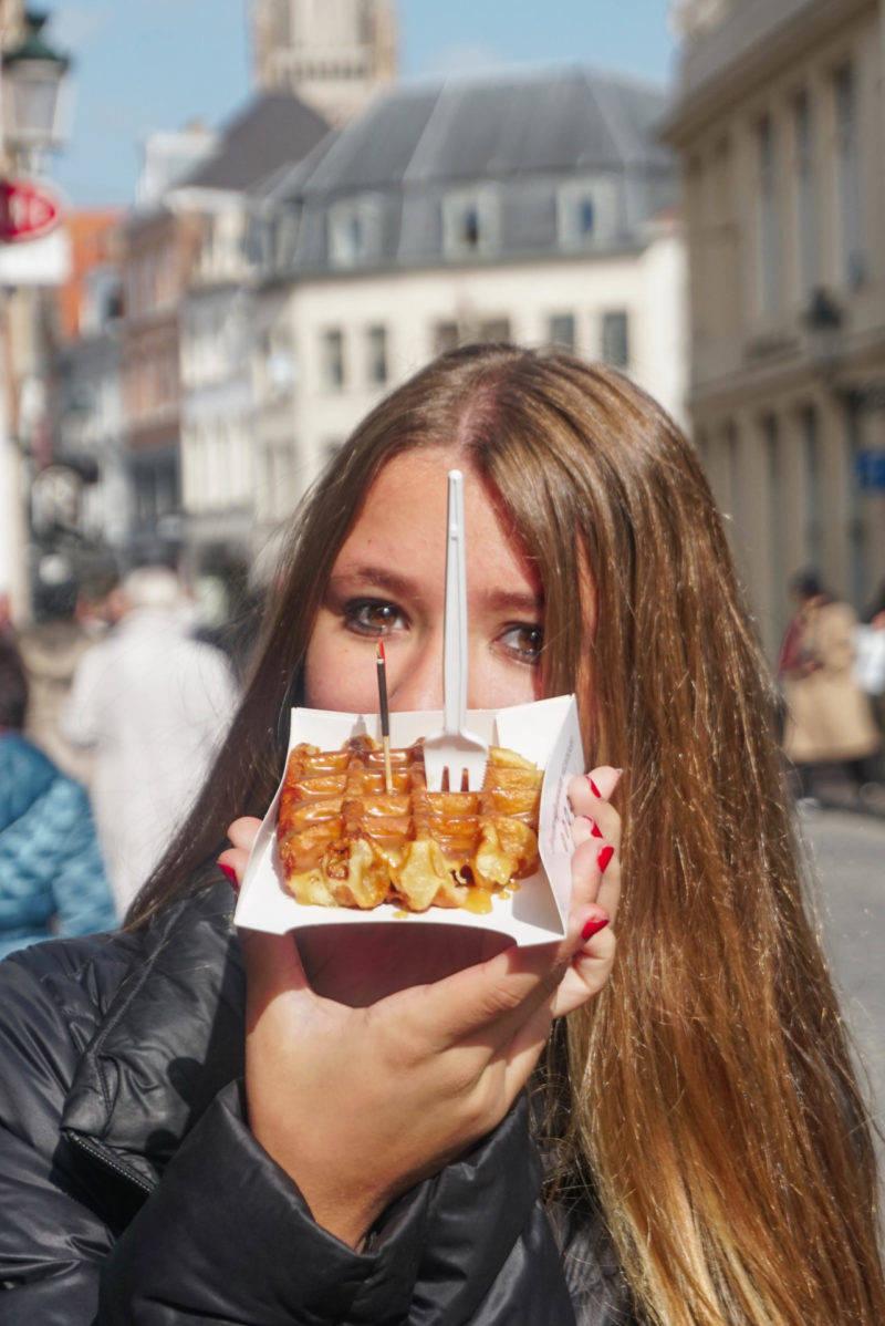 O melhor Waffle de Bruges, sem exagero, é o do Chez Albert