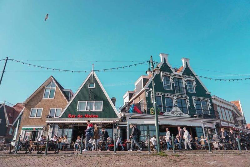 Volendam e suas casas típicas