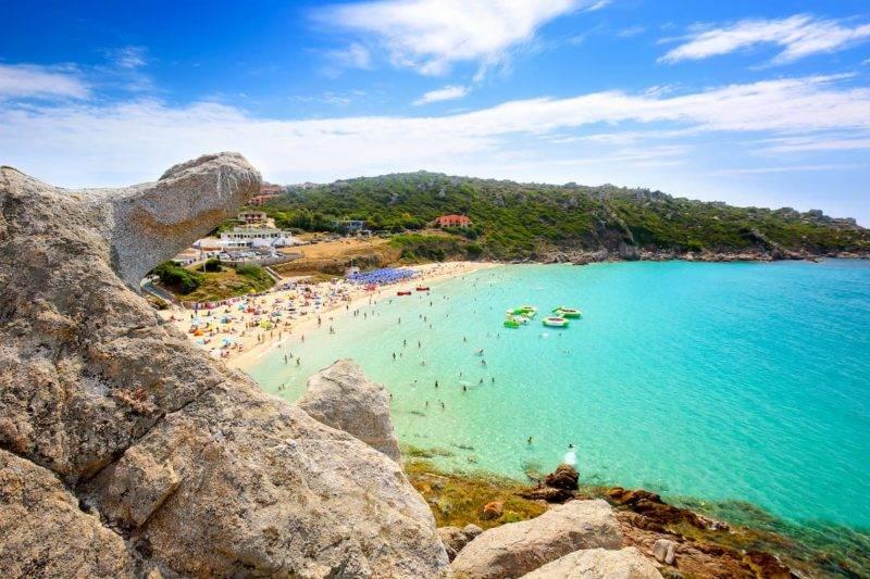 Praias da Sardenha: Rena Bianca.